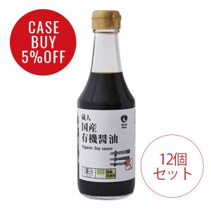 CaseBuy NH国産有機醤油200ml12個セット<5%OFF>