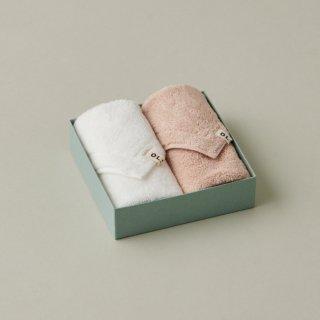 OLSIA Premium Cotton ハンカチタオル2枚 ギフトセット