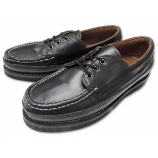 RUSSELL MOCCASIN / REGATTA BOAT SHOE Triple Vamp BLACK CHROMEXCEL