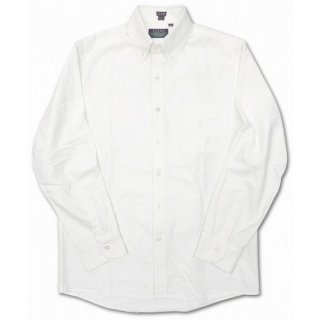 CLEVE SHIRT MAKERS / L/S OXFORD B.D SHIRT - WHITE