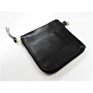BRONSON LEATHER / CATTLE LEATHER MINI WALLET (BLACK)