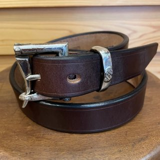 BRONSON LEATHER / FIREMAN BUCKLE BELT chocolate 30mm