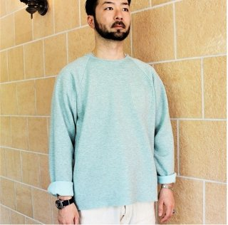 MONITALY / CUT OFF CREWNECK SWEAT - MINT