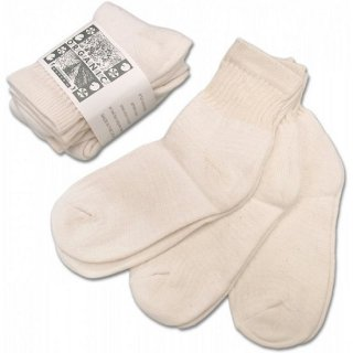 ORGANIC THREADS / 3p short crew socks NATURAL