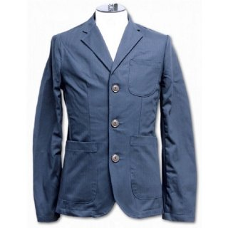 PINECONE / HERRINGBONE TWILL 3BUTTON JACKET - NAVY