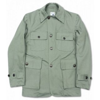PINECONE / HERRINGBONE TWILL MILITARY JACKET - FOLIAGE