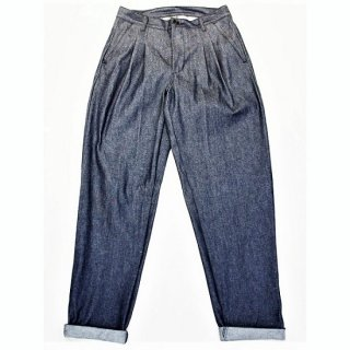 PINECONE / denim 2pleats pant - indigo  NON WASH