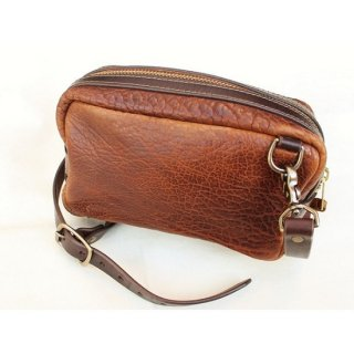 CORONADO LEATHER / BISON LEATHER SHOULDER BAG(WALNUT)
