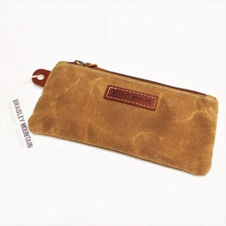 BRADLEY MOUNTAIN / PENCIL ZIP POUCH (BRUSH BROWN)