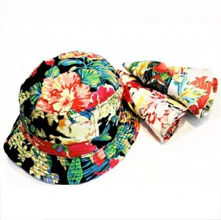 NEWHATTAN /  FLORAL BUCKET HAT (3colors)