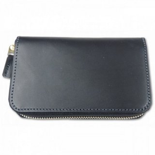 BRONSON LEATHER / ZIPPER ROUND WALLET