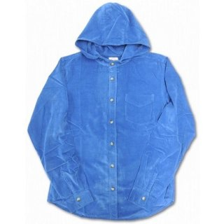 LEFTY O'DOULS  / HOODED CORDUROY SHIRT ( ROYAL )