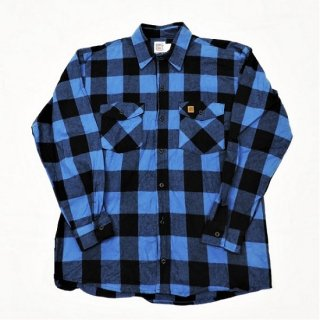 BIG BILL / MADE IN U.S.A  #121 BRAWNY FLANNEL SHIRT (BLUE / BLACK)