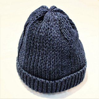 TRADHOUND /  INDIGO COTTON WATCH CAP (DARK INDIGO)