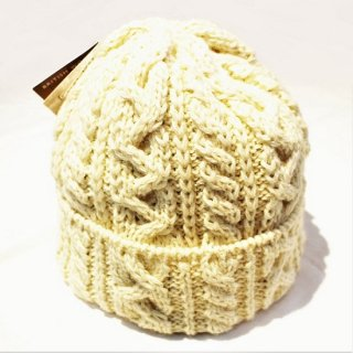 HIGHLAND 2000 /  WOOL CABLE WATCH CAP #016 BOBCAP (ARAN)