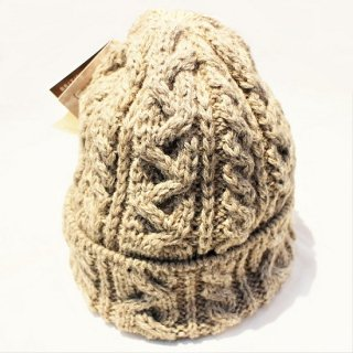 HIGHLAND 2000 /  WOOL CABLE WATCH CAP #016 BOBCAP (NEW NATURAL)