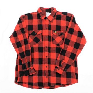 BIG BILL / MADE IN U.S.A  #121 BRAWNY FLANNEL SHIRT (RED / BLACK)