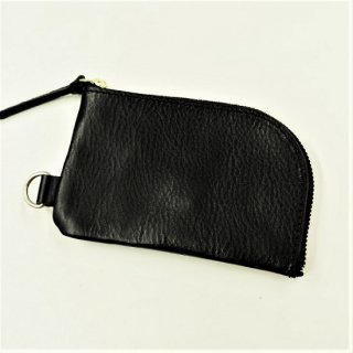 BRONSON LEATHER / ARIZONA LEATHER ZIPPER COIN PURSE (BLACK)