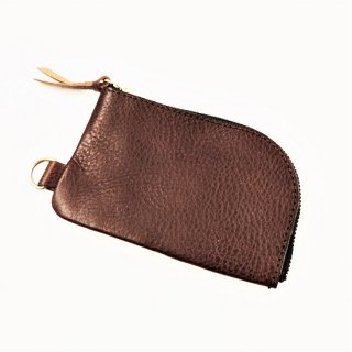 BRONSON LEATHER / ARIZONA LEATHER ZIPPER COIN PURSE (BROWN)