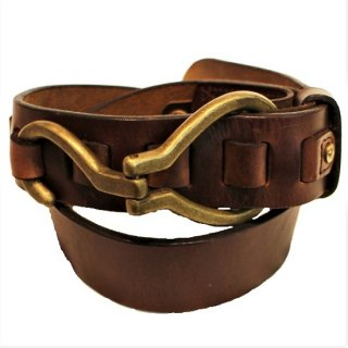 BRONSON LEATHER / CHROMEXCEL BIG HOOK BELT brown 38mm