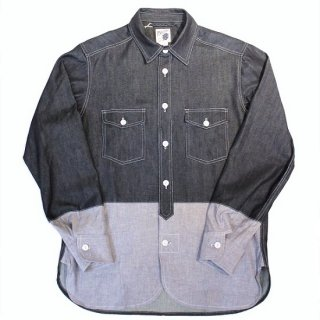 PINECONE 2tone work shirt DENIM / CHAMBRAY (INDIGO)