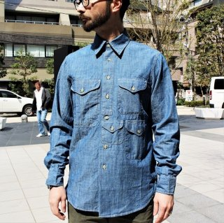 MANIFATTURA CECCARELLI / 701QV HISTORIC SHIRT - BLUE CHAMBRAY