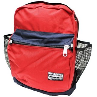 BATTLE LAKE / 2tone BALLISTIC NYLON day pack  (RED / NAVY)