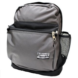 BATTLE LAKE / 2tone BALLISTIC NYLON day pack  (CHARCOAL / BLACK)