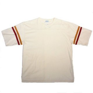ALORE /  1/2 FOOTBALL TEE - NATURAL