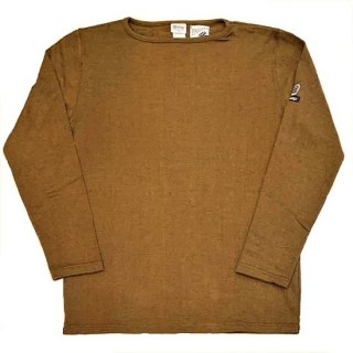 PINECONE x Tieasy / boatneck L/S  MIX BROWN