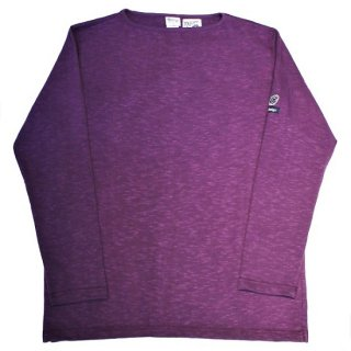 PINECONE x Tieasy / boatneck L/S  PURPLE