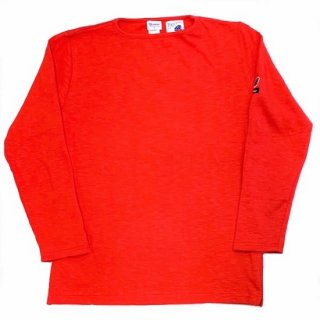 PINECONE x Tieasy / boatneck L/S  RED
