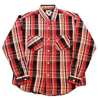 PINECONE L/S HEAVY FLANNEL WORK SHIRT (RED)