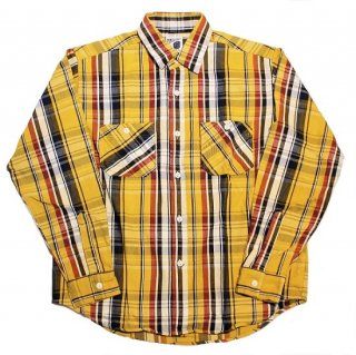 PINECONE L/S HEAVY FLANNEL WORK SHIRT (YELLOW)