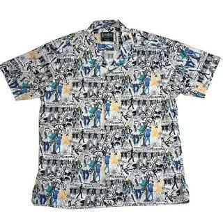 ギットマン ヴィンテージ GITMAN VINTAGE / 半袖 ピカソ オープンカラーシャツ S/S OPENCOLLAR SHIRT (WHITE)
