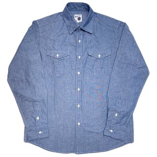 PINECONE / CHAMBRAY WESTERN SHIRT (BLUE)