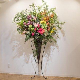 季節の花のスタンド