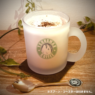 ガラスフロストマグカップ『マグロくん/coffee柄』