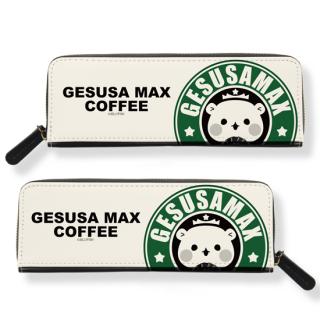 合皮ペンケース『ゲスくま/カフェ柄』