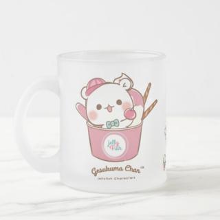 ガラスフロストマグカップ『ゲスくま/アイス屋さん』