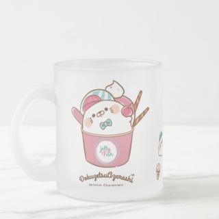 ガラスフロストマグカップ『毒舌あざらし/アイス屋さん』