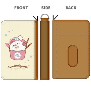 合皮製パスケース付きコインケース『アイス柄/ツンデレあざらし』