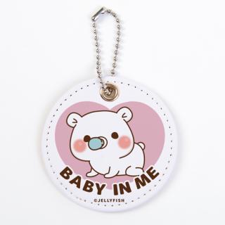 PUレザーキーホルダー『ゲスくま/BABY IN ME』