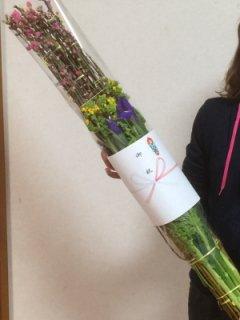 [2月1日より発送開始]あふれる桃の花 おひな祭り 桃の花束 基本セット 送料無料 桃の花 ナタネ イリス