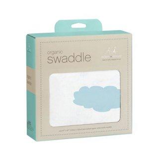 aden + anais オーガニック・スワドル(sky blue organic swaddle)
