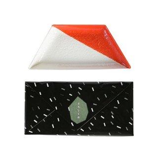 瀬戸焼 大皿(朱) 1枚ギフトボックス