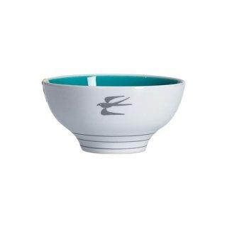 ノコサナイ茶碗 ツバメのイラスト(ブルー)