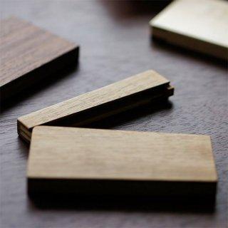 磁石式木の名刺入れ(ナラ)