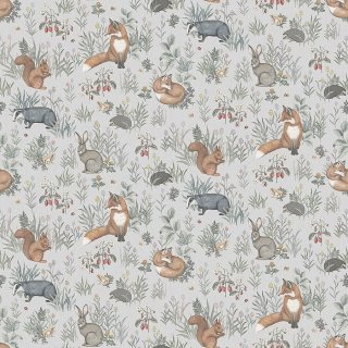 Forest Friends Mural / 7480 / Newbie Wallpaper / Borastapeter