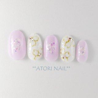 シェルがかわいい桜ネイル